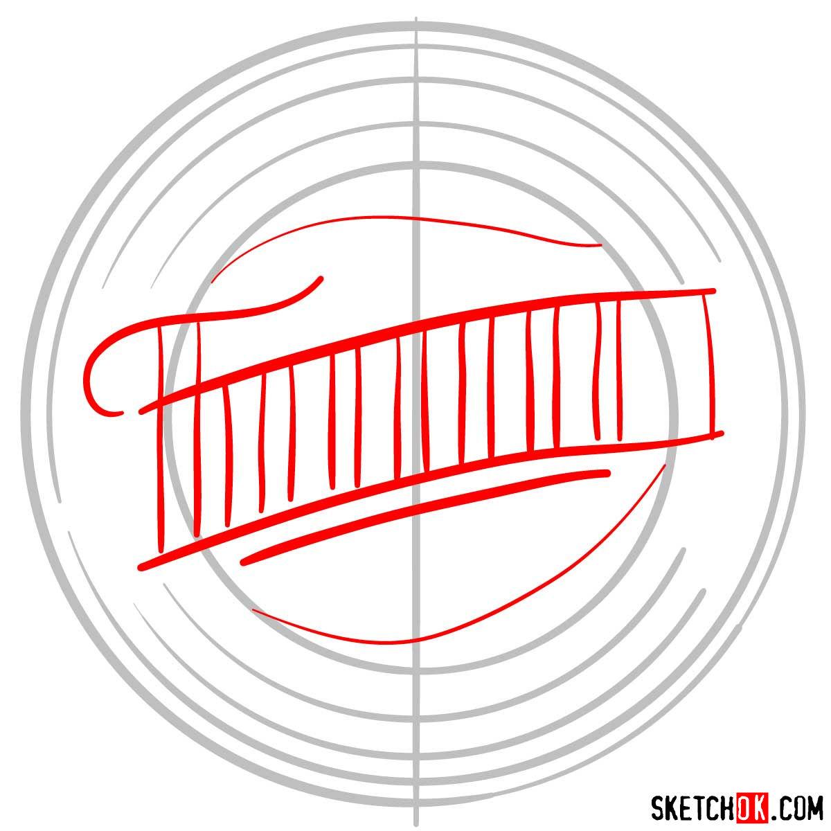 How to draw Minnesota Twins logo   MLB logos - step 02