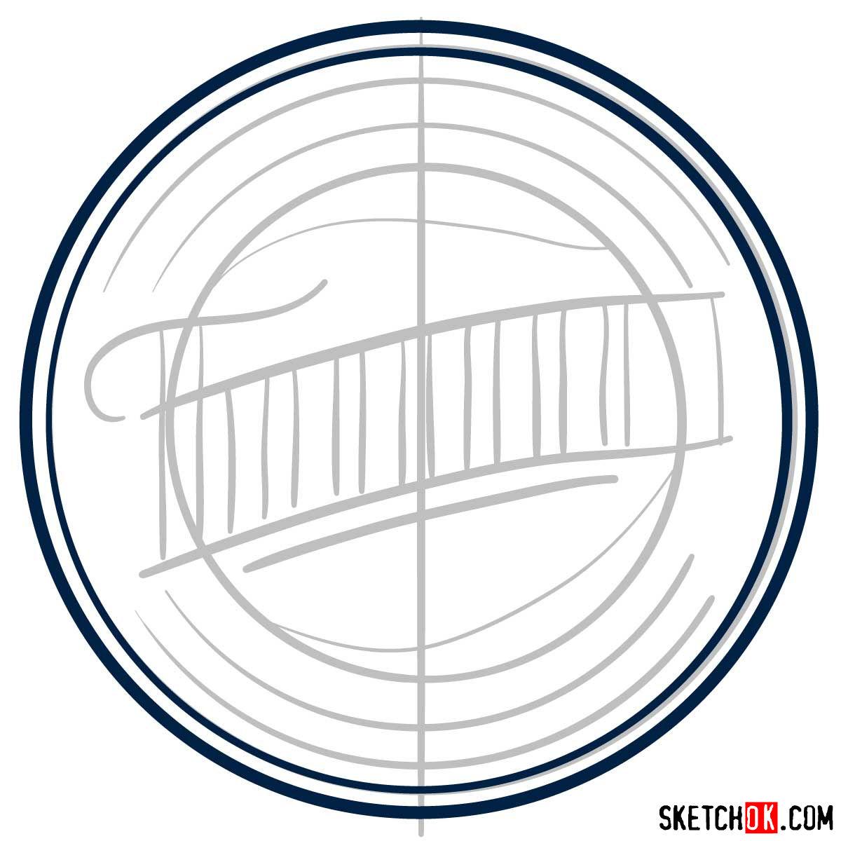 How to draw Minnesota Twins logo   MLB logos - step 03