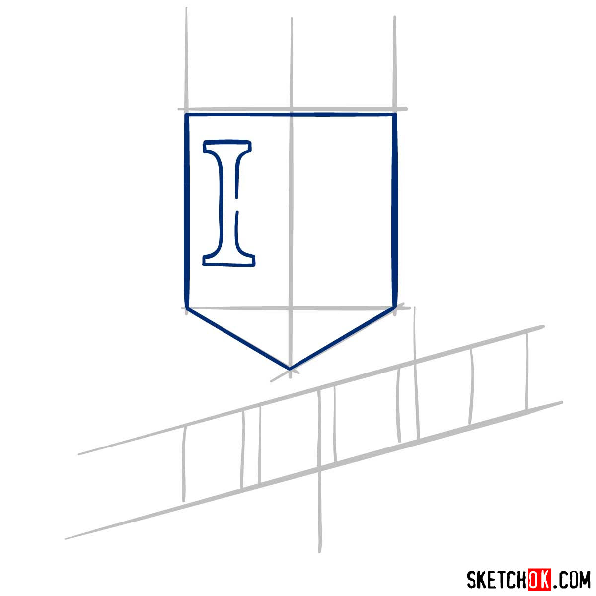 How to draw Kansas City Royals logo | MLB logos - step 03