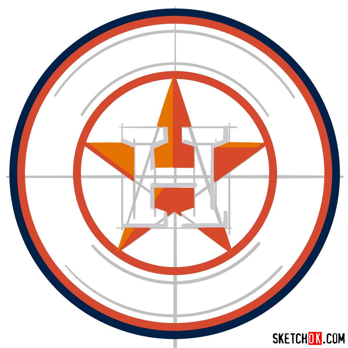 Astros Logo >> How To Draw Houston Astros Logo Mlb Logos Step By Step