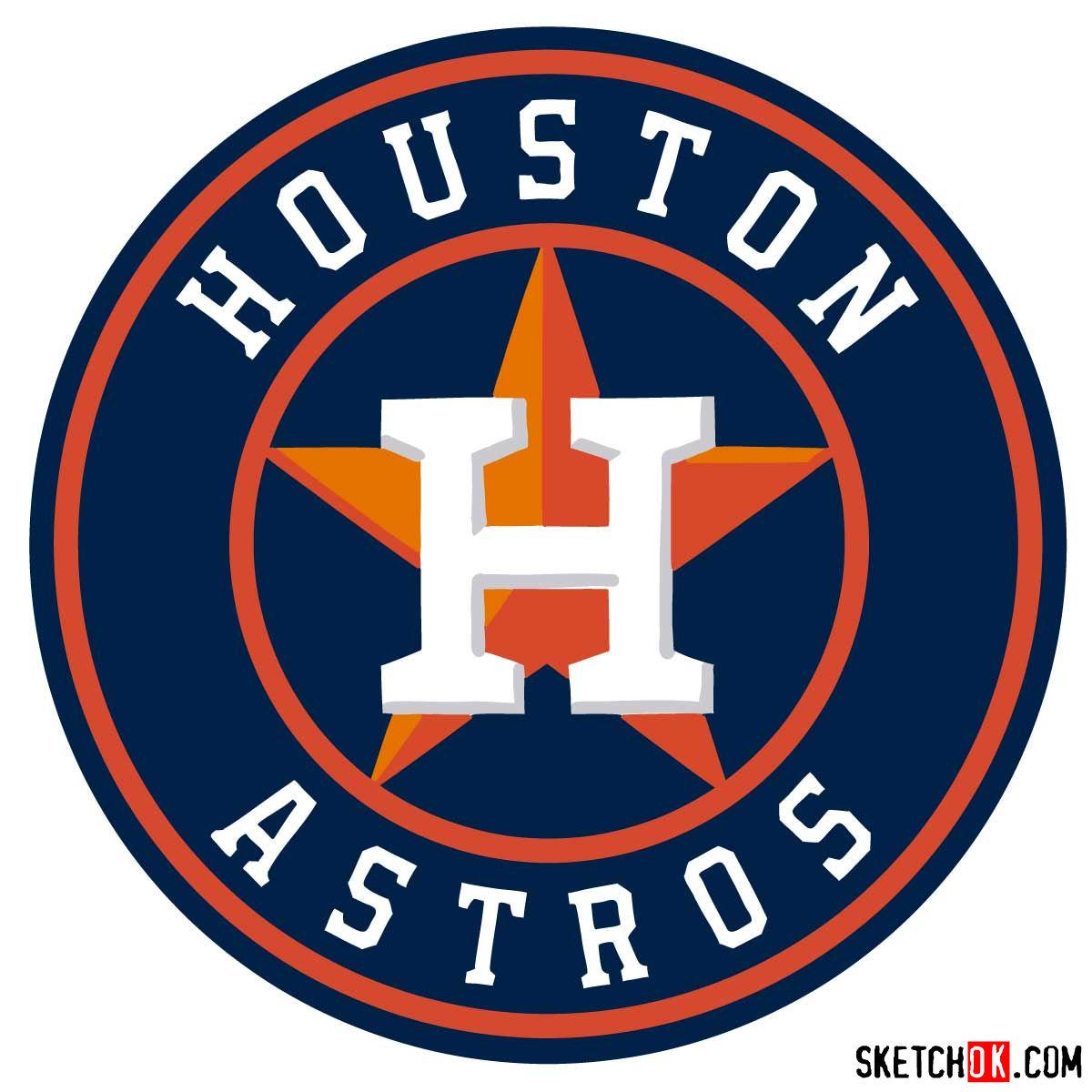 How to draw Houston Astros logo | MLB logos