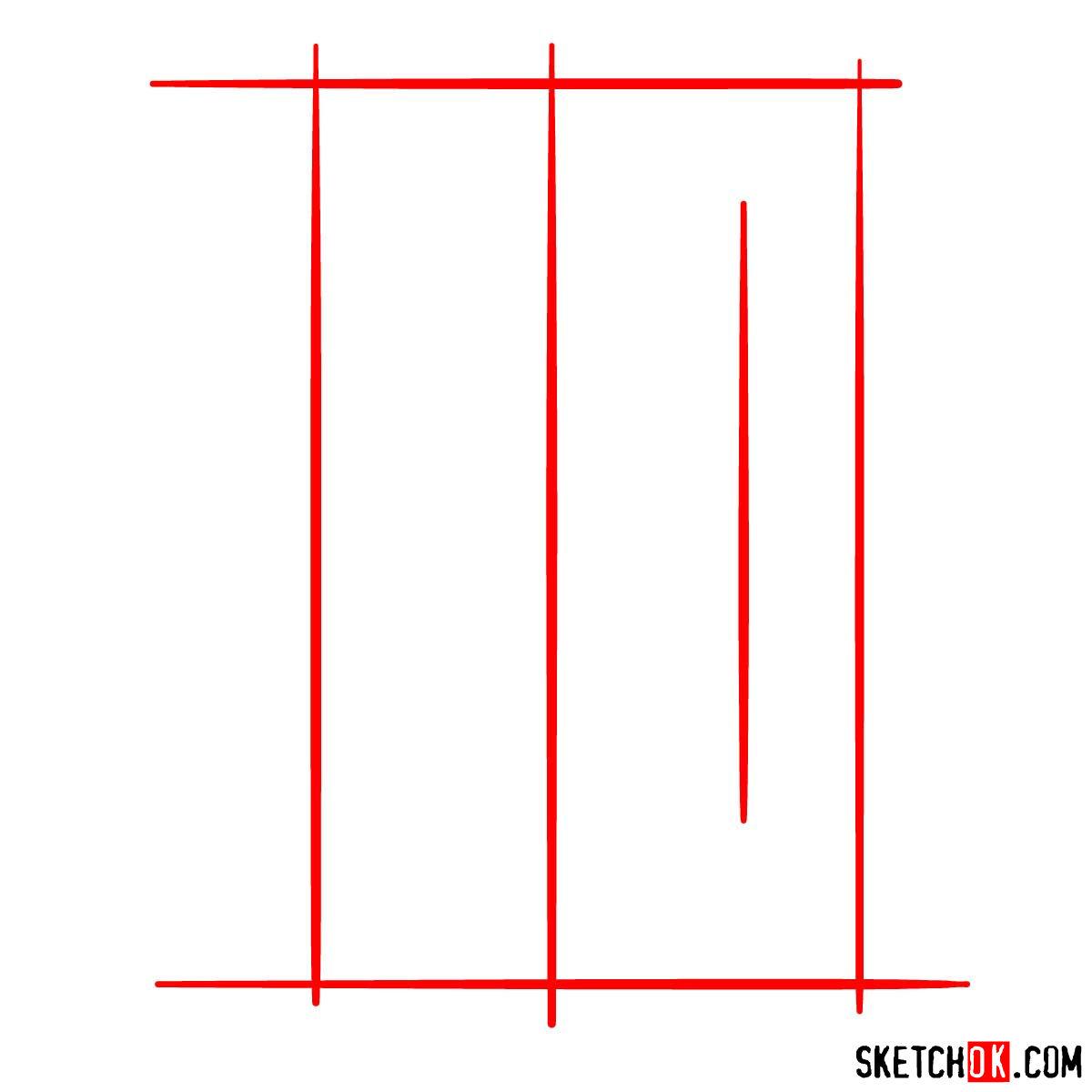 How to draw Detroit Tigers logo | MLB logos - step 01