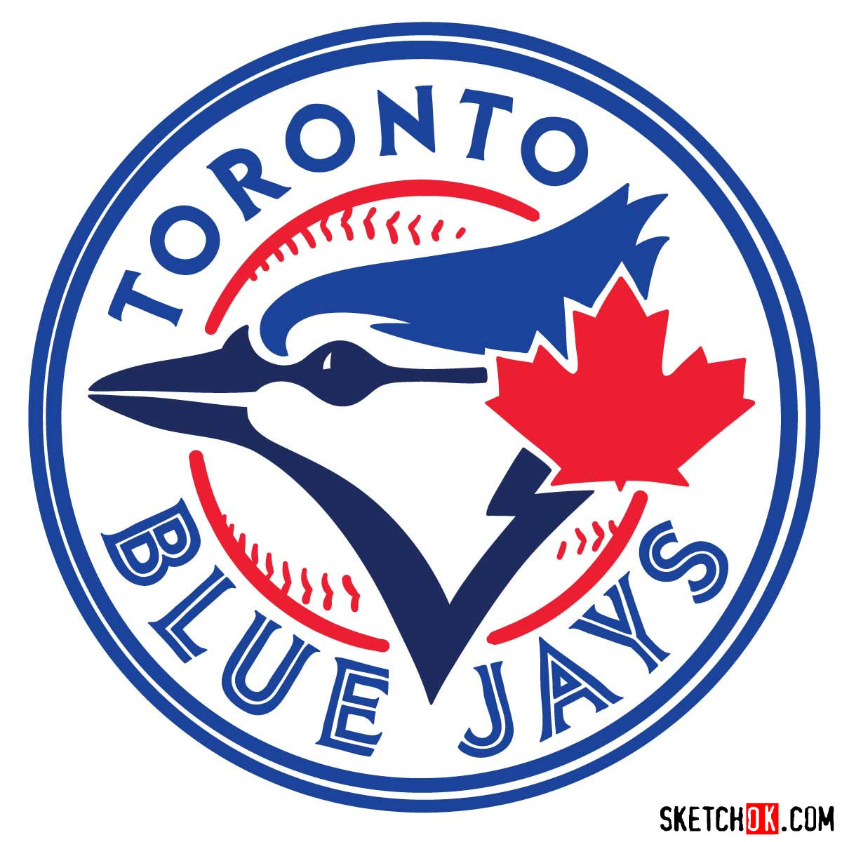 How to draw Toronto Blue Jays logo | MLB logos