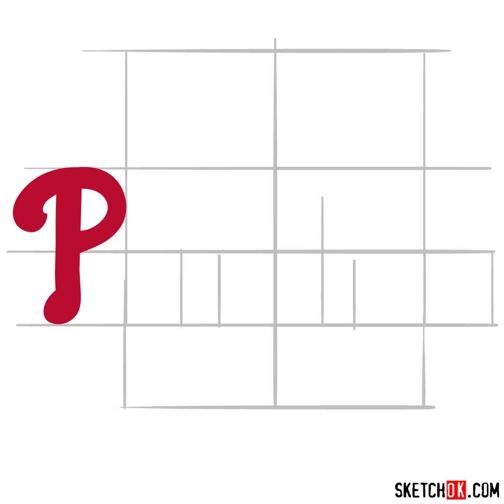How to draw The Philadelphia Phillies logo - step 03