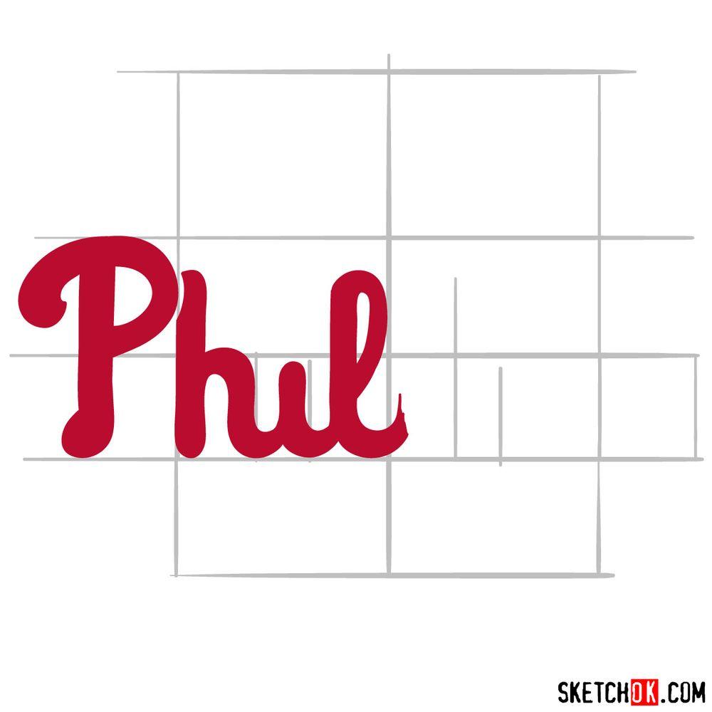 How to draw The Philadelphia Phillies logo - step 04
