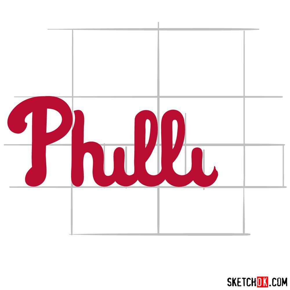 How to draw The Philadelphia Phillies logo - step 05