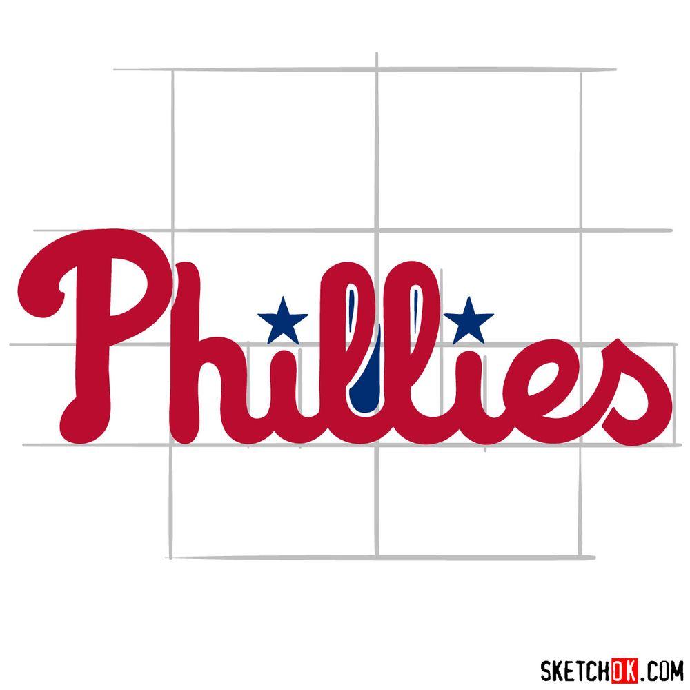 How to draw The Philadelphia Phillies logo - step 07