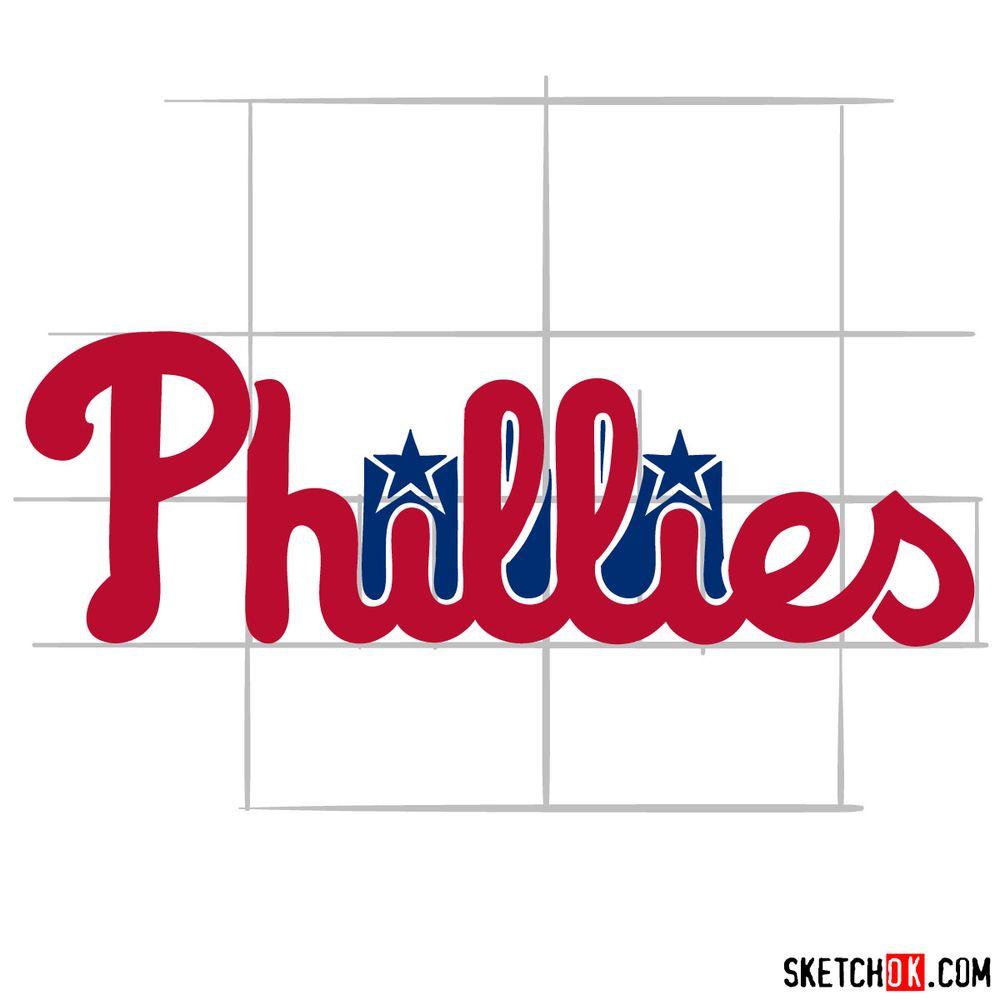 How to draw The Philadelphia Phillies logo - step 08