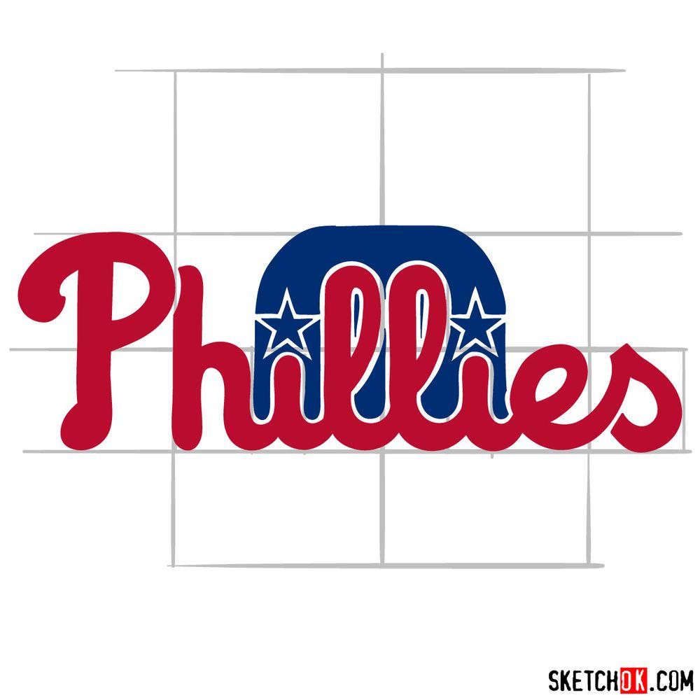 How to draw The Philadelphia Phillies logo - step 09