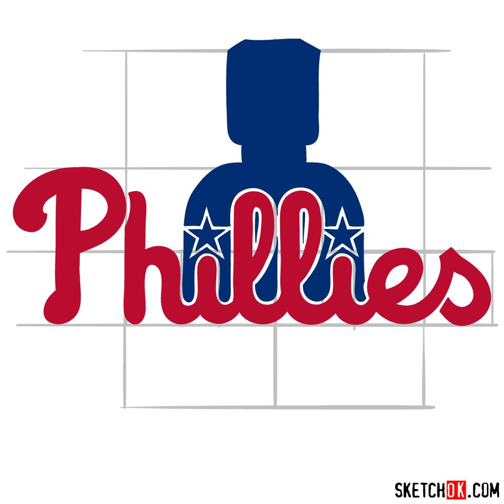 How to draw The Philadelphia Phillies logo - step 10