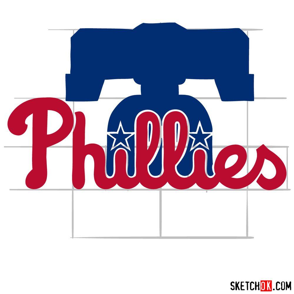 How to draw The Philadelphia Phillies logo - step 11