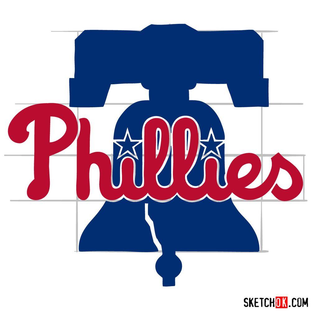 How to draw The Philadelphia Phillies logo - step 14
