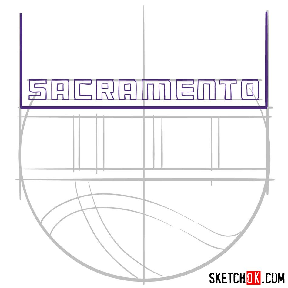 How to draw Sacramento Kings logo (NBA logos) - step 06