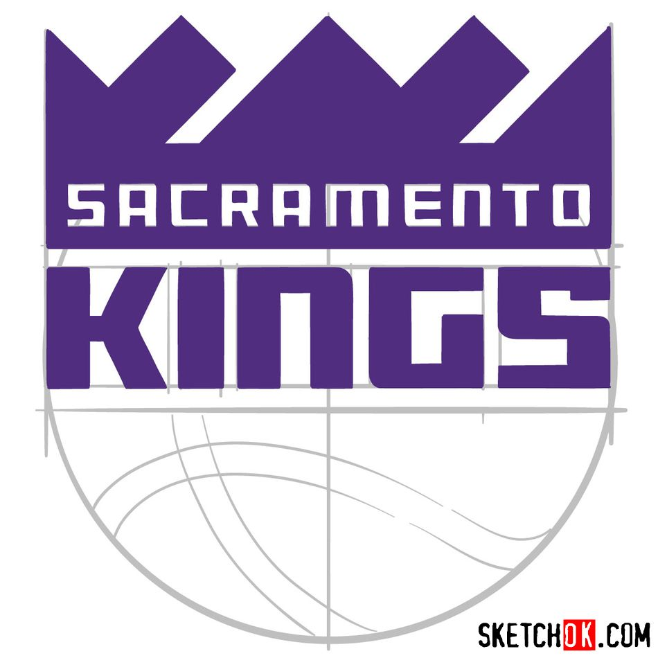 How to draw Sacramento Kings logo (NBA logos) - step 10