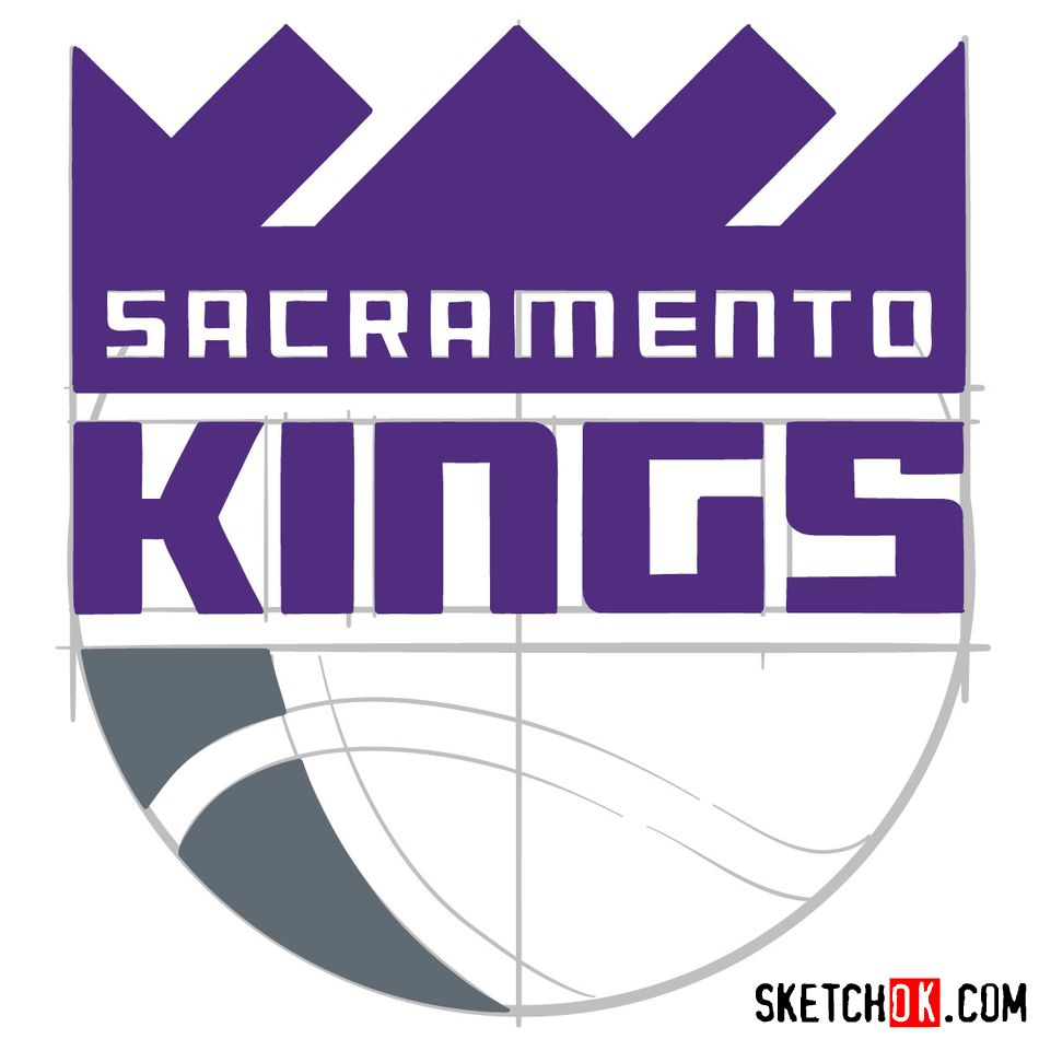 How to draw Sacramento Kings logo (NBA logos) - step 11
