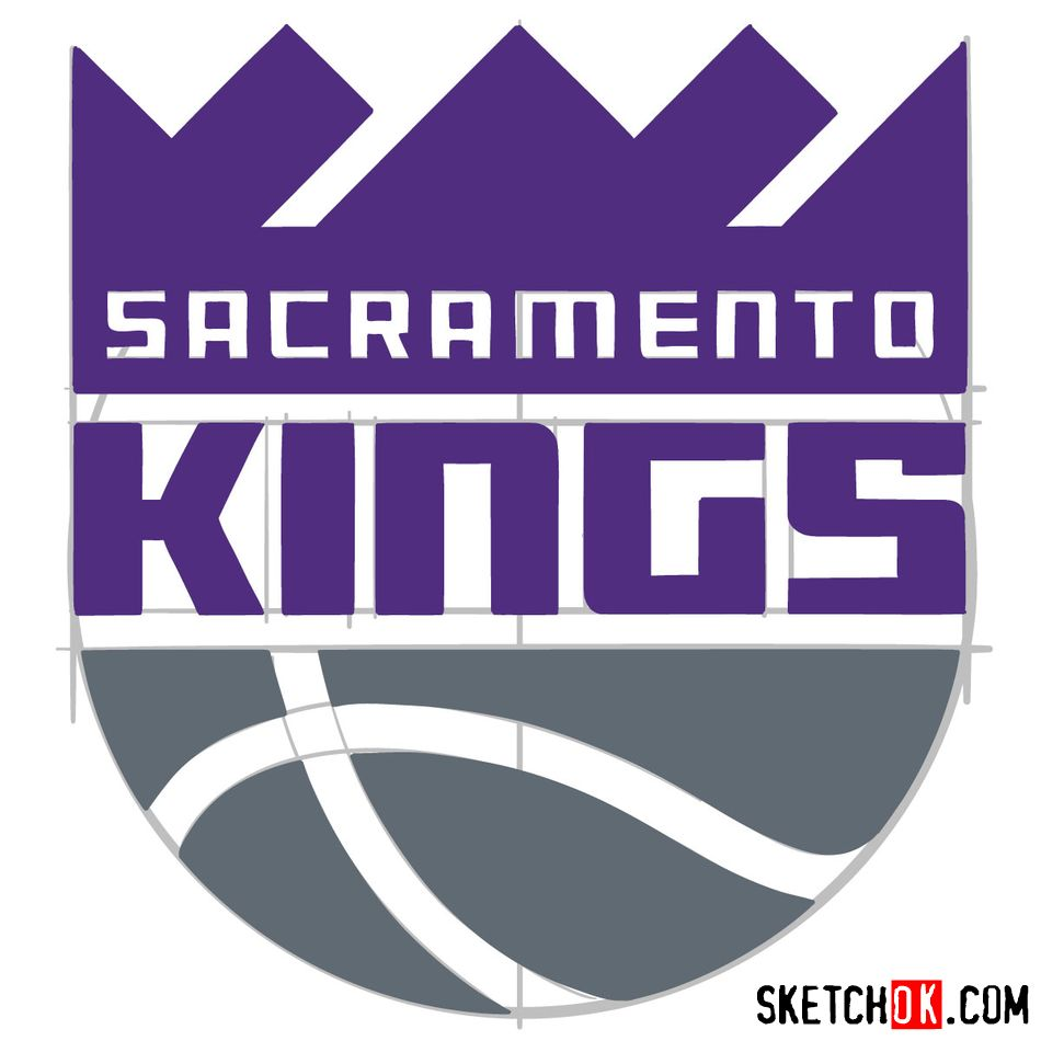 How to draw Sacramento Kings logo (NBA logos) - step 12