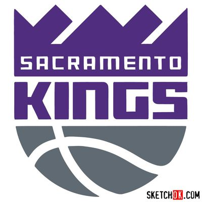 How to draw Sacramento Kings logo (NBA logos)