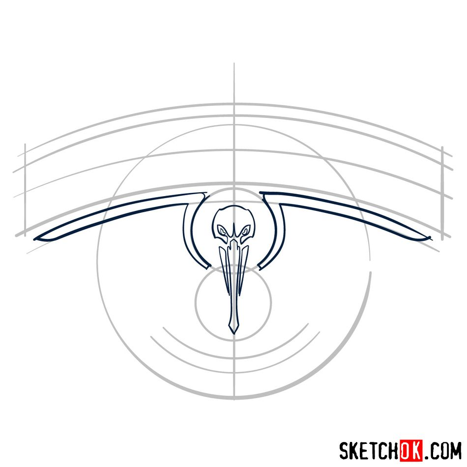 How to draw New Orleans Pelicans logo - step 04