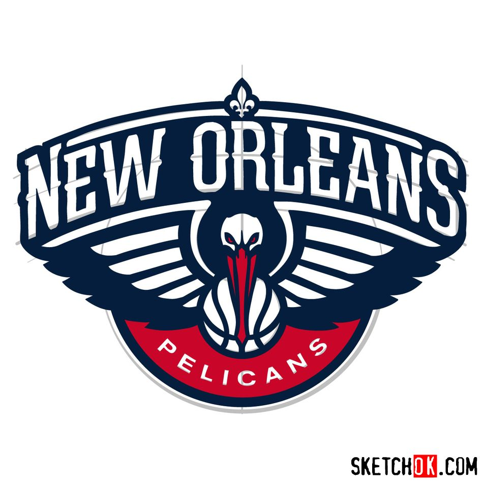 How to draw New Orleans Pelicans logo - step 16