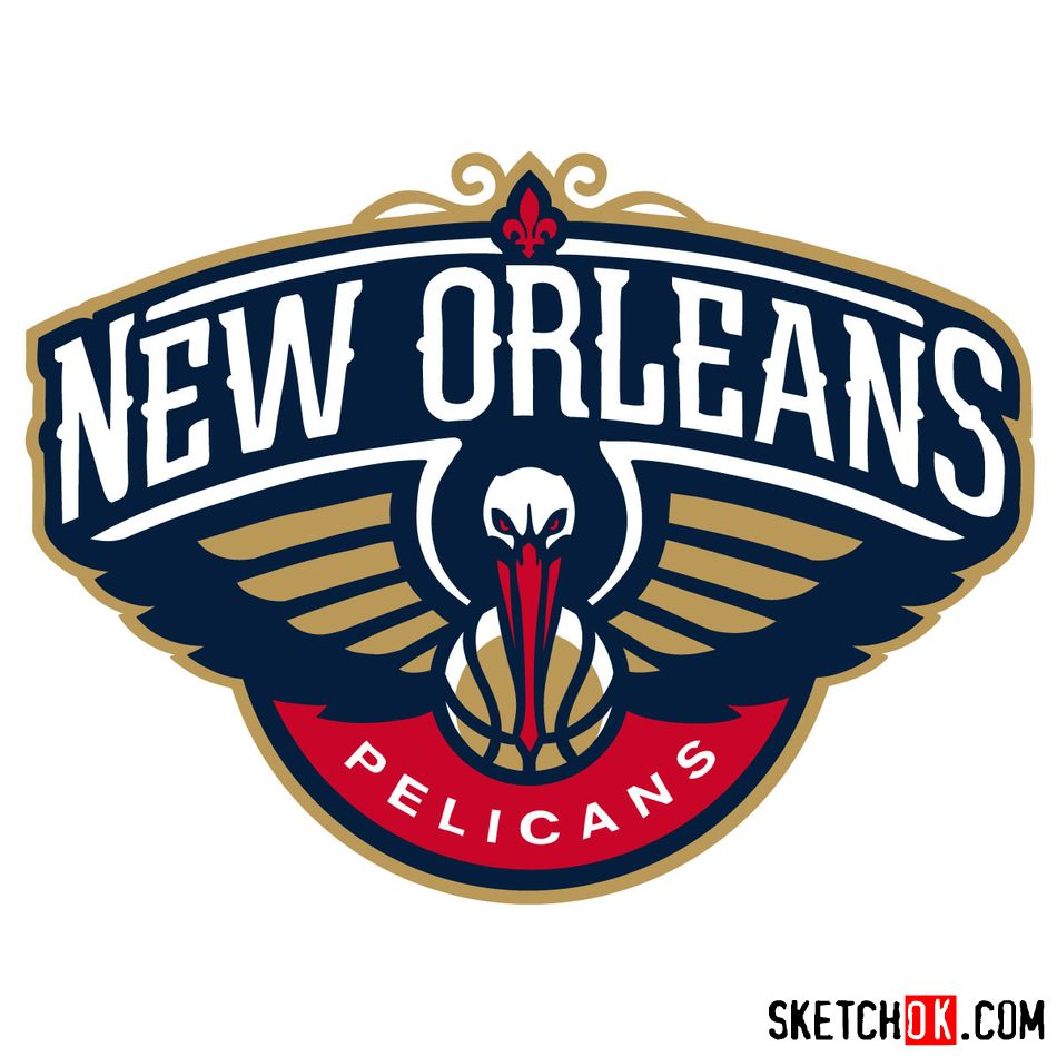 How to draw New Orleans Pelicans logo - coloring