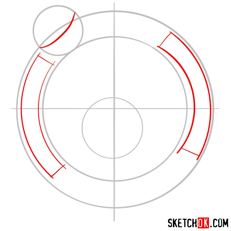 How to draw The Boston Celtics logo - step 02