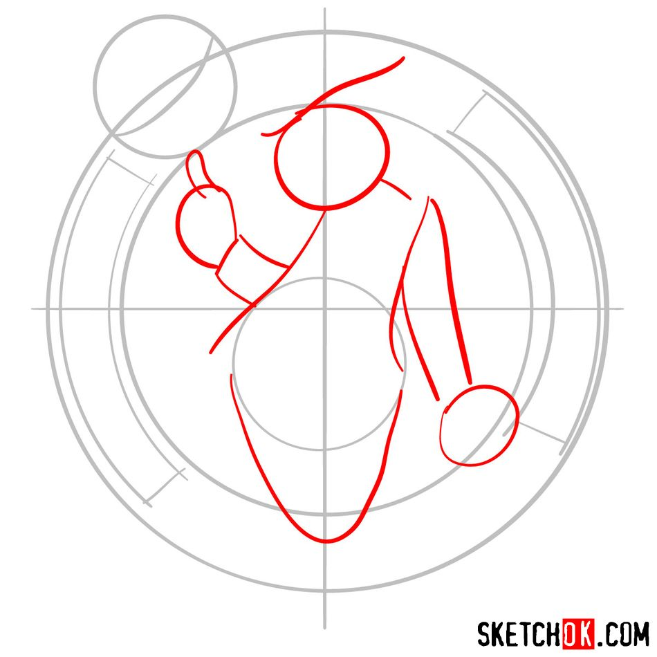 How to draw The Boston Celtics logo - step 03