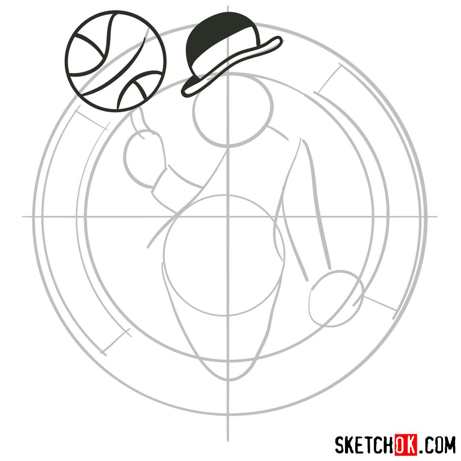 How to draw The Boston Celtics logo - step 04