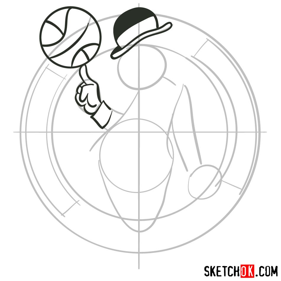 How to draw The Boston Celtics logo - step 05