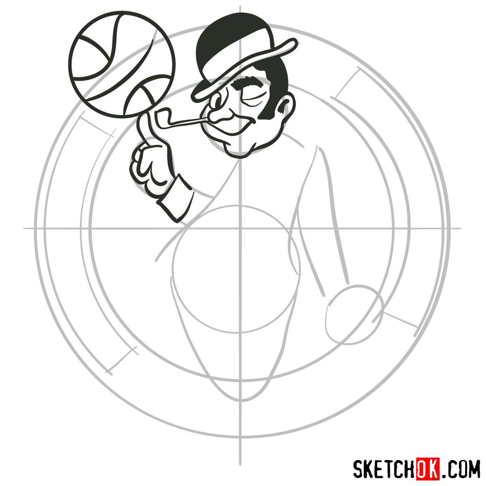 How to draw The Boston Celtics logo - step 06