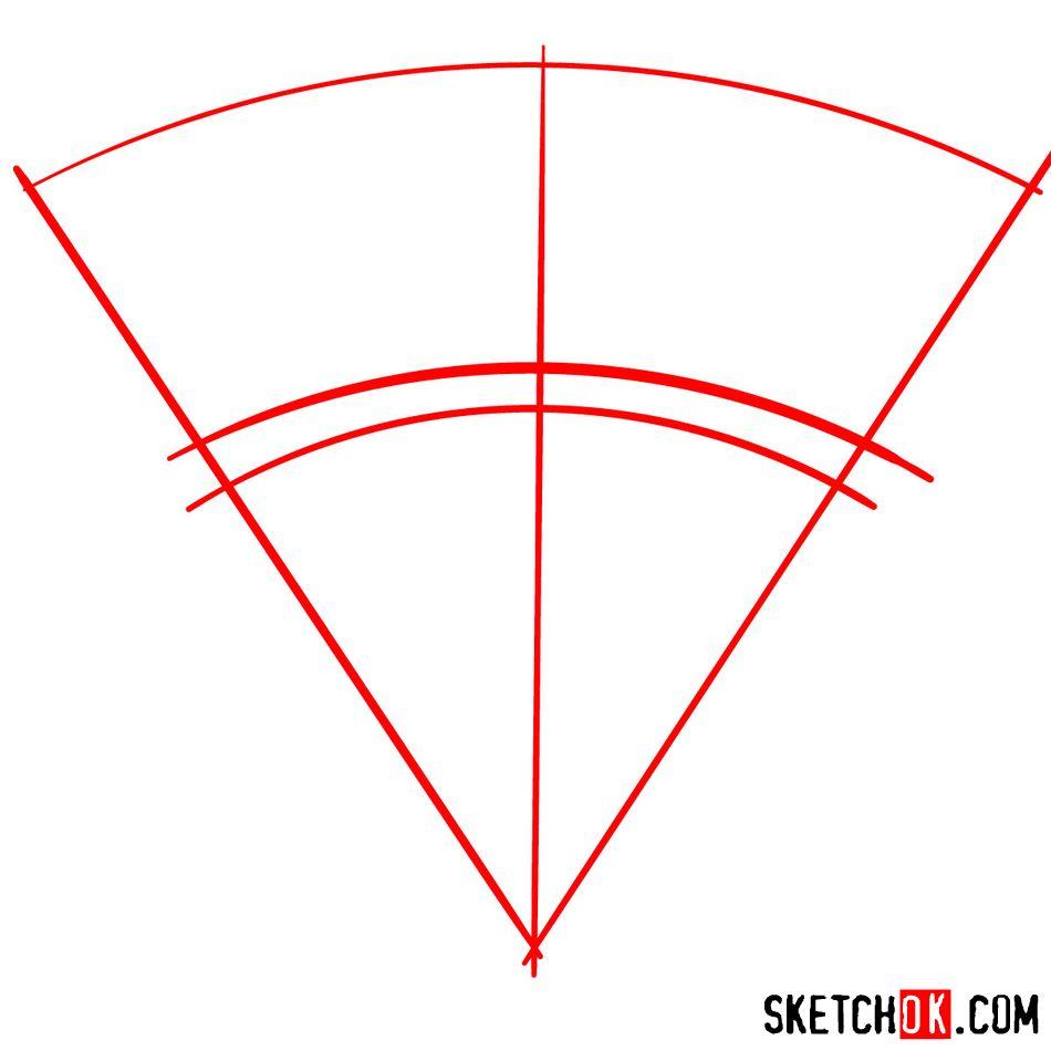 How to draw The Oklahoma City Thunder logo - step 01