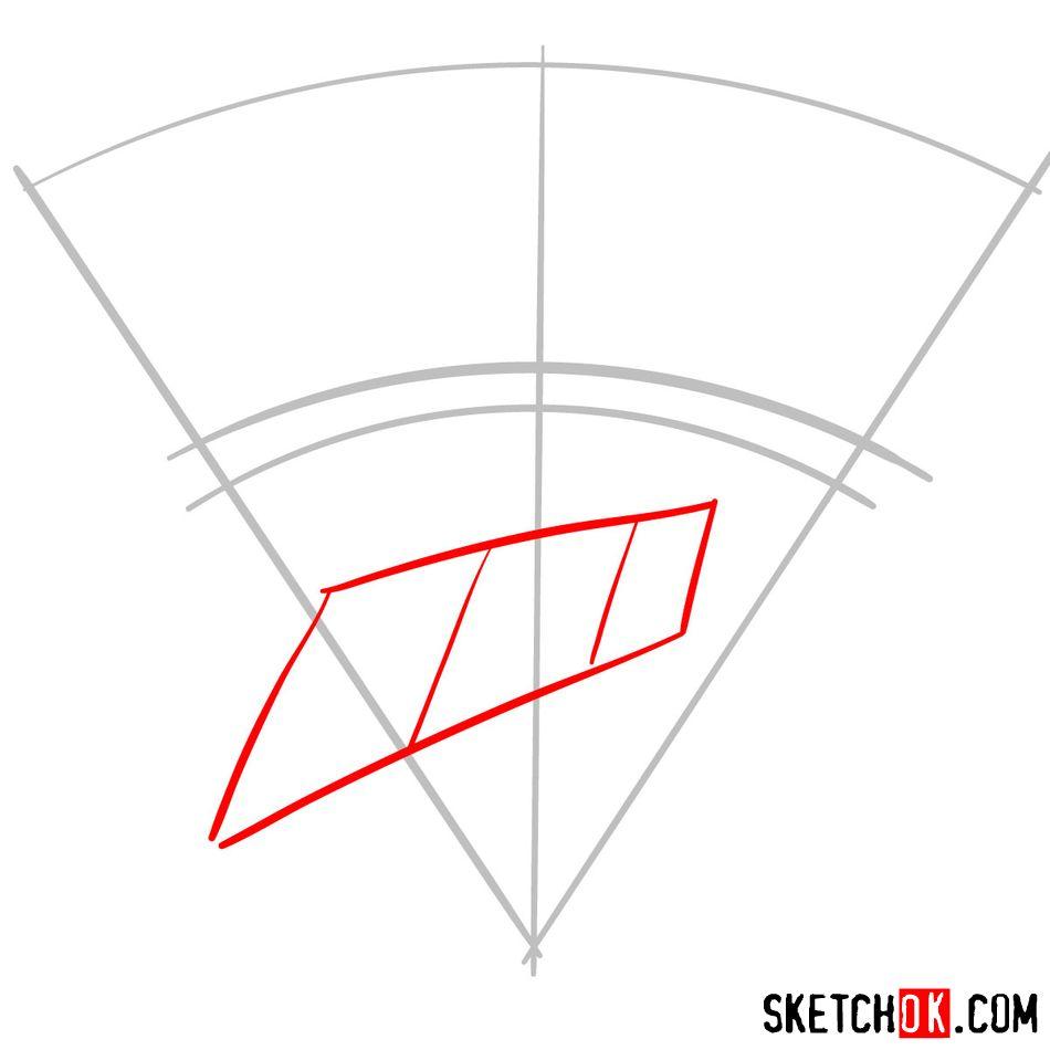 How to draw The Oklahoma City Thunder logo - step 02
