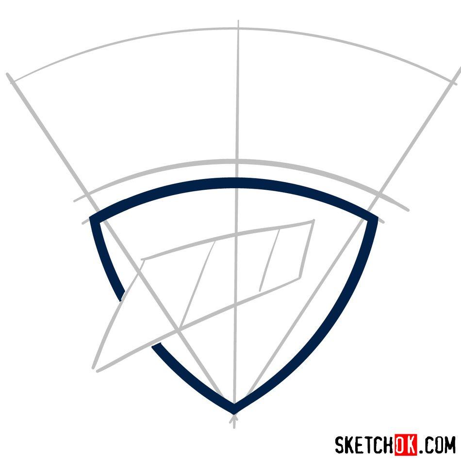 How to draw The Oklahoma City Thunder logo - step 03