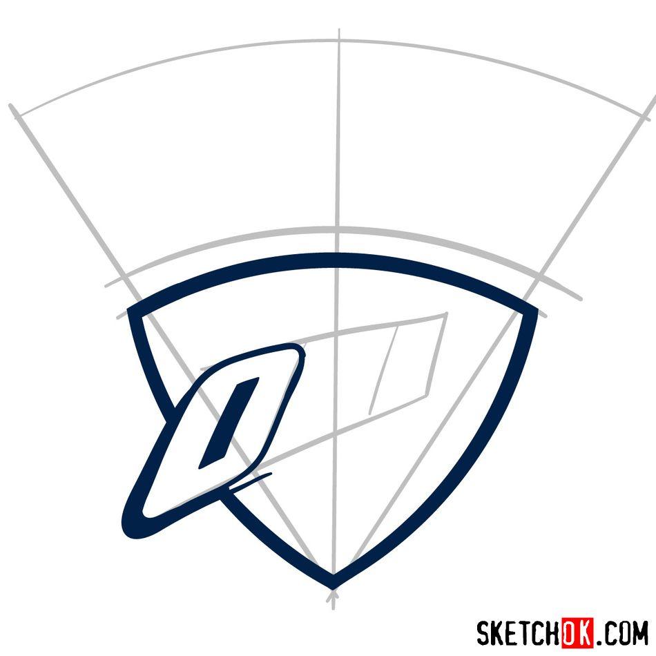 How to draw The Oklahoma City Thunder logo - step 04