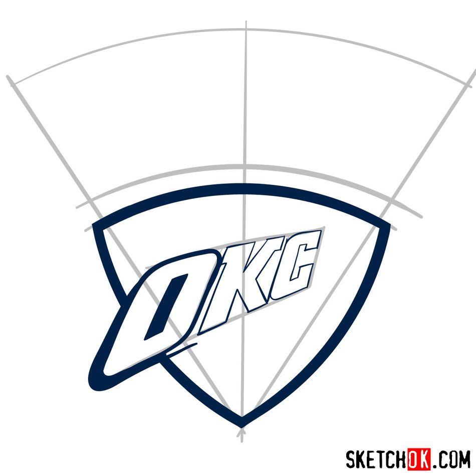 How to draw The Oklahoma City Thunder logo - step 05
