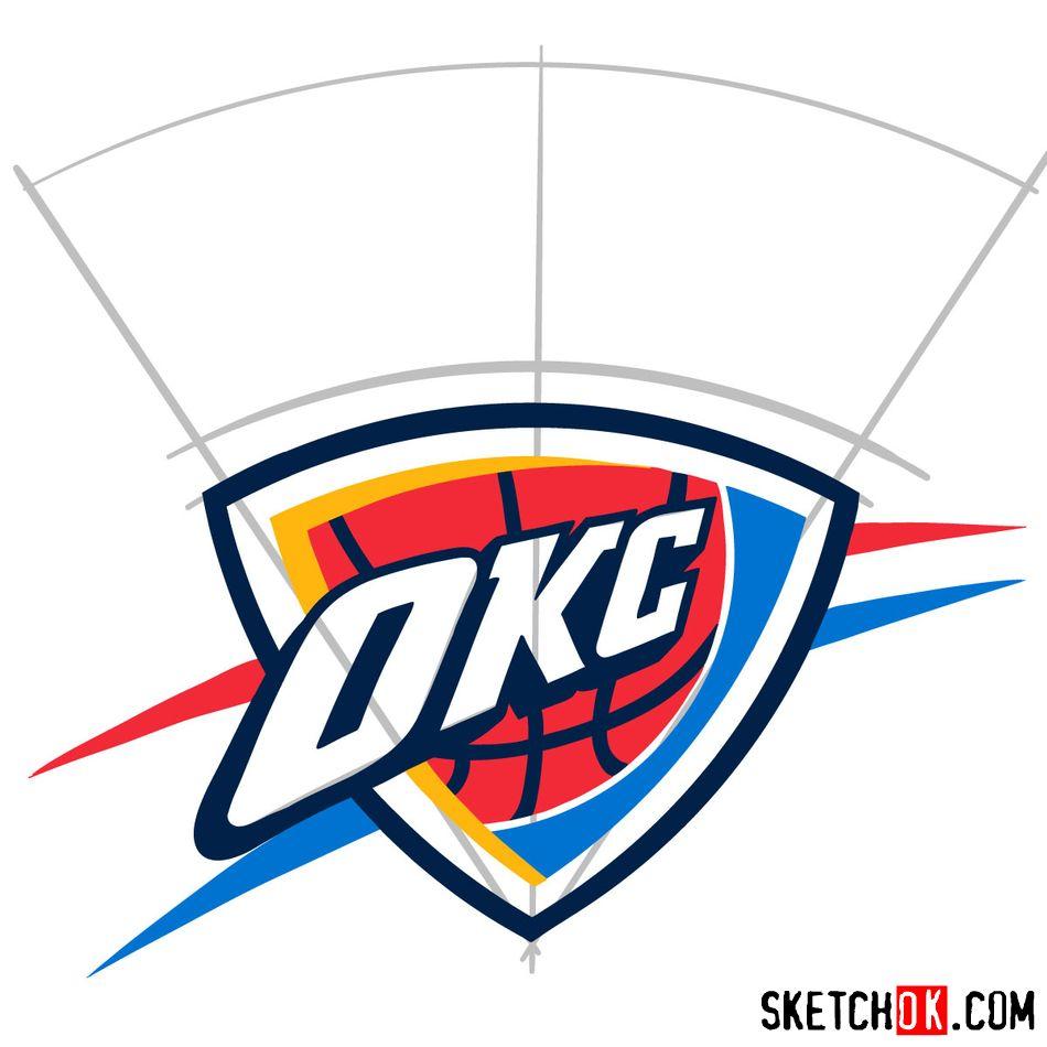 How to draw The Oklahoma City Thunder logo - step 08