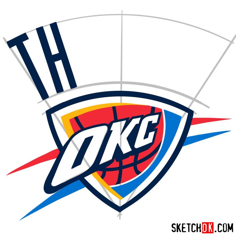 How to draw The Oklahoma City Thunder logo - step 09