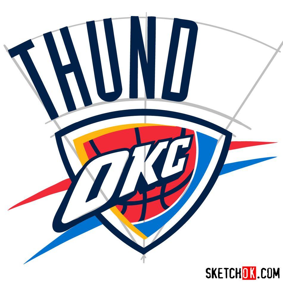 How to draw The Oklahoma City Thunder logo - step 10