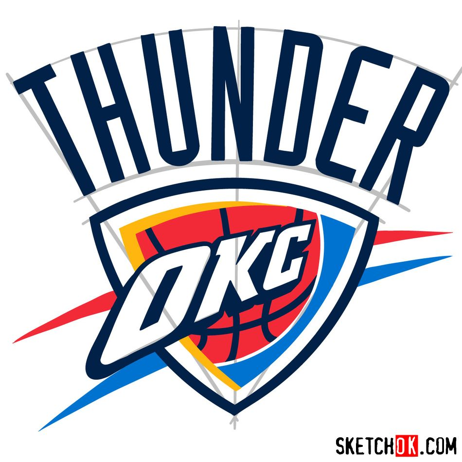 How to draw The Oklahoma City Thunder logo - step 11
