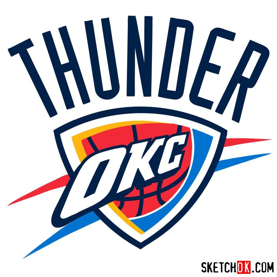 How to draw The Oklahoma City Thunder logo - coloring