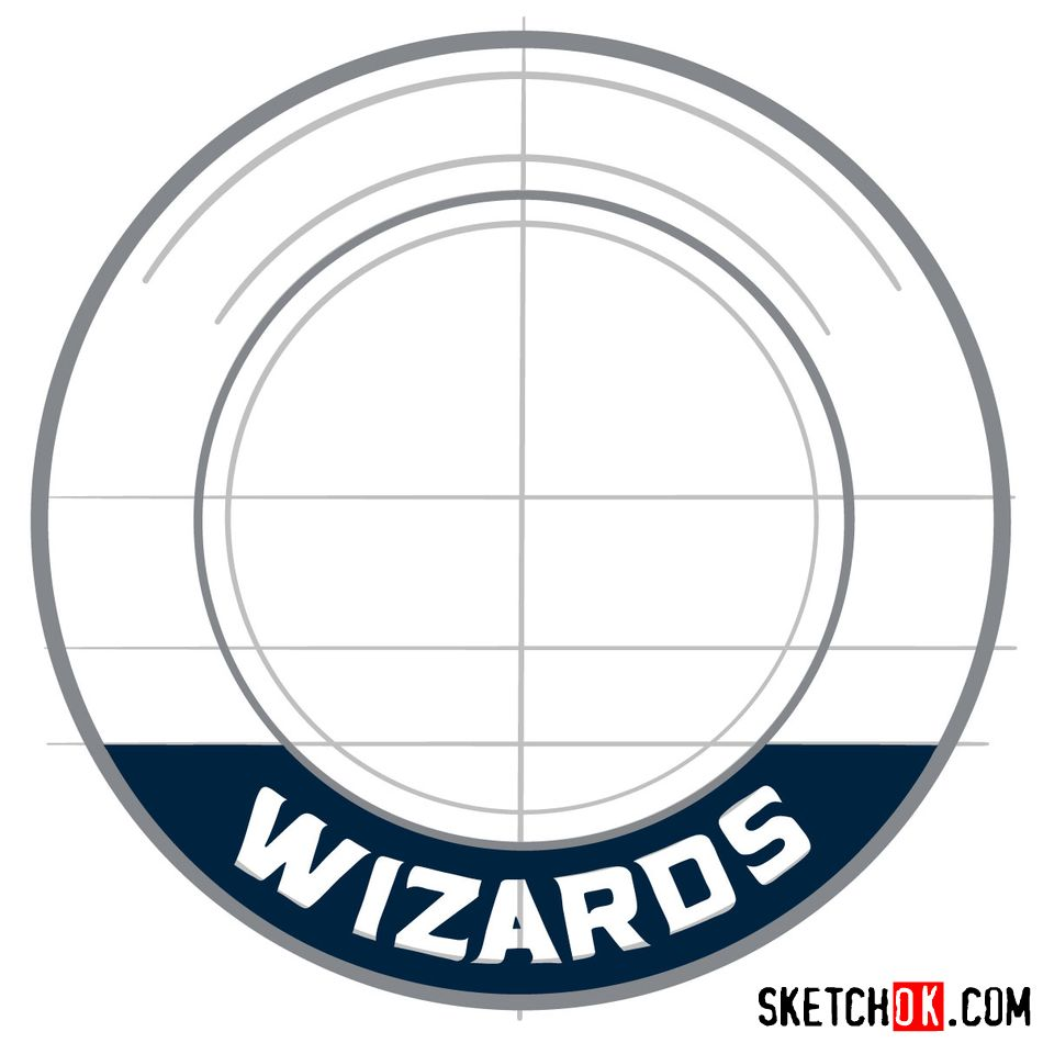 How to draw The Washington Wizards logo - step 07