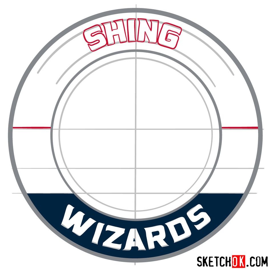 How to draw The Washington Wizards logo - step 08