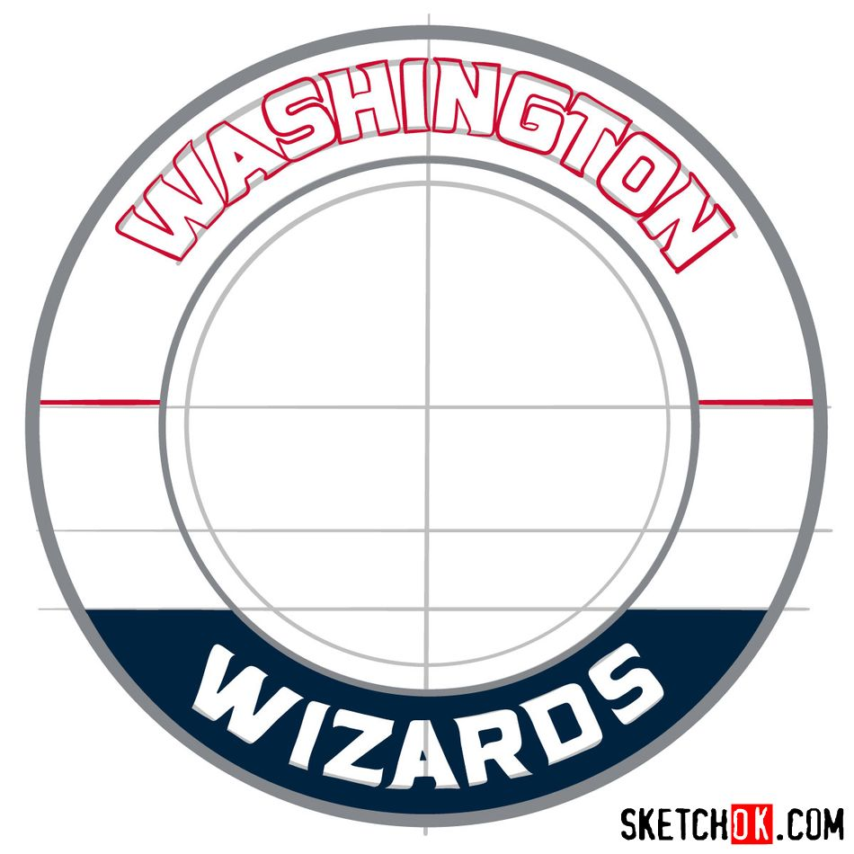 How to draw The Washington Wizards logo - step 09