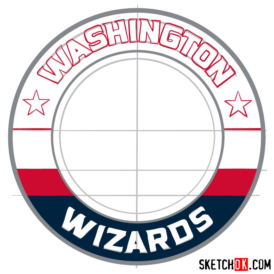 How to draw The Washington Wizards logo - step 10