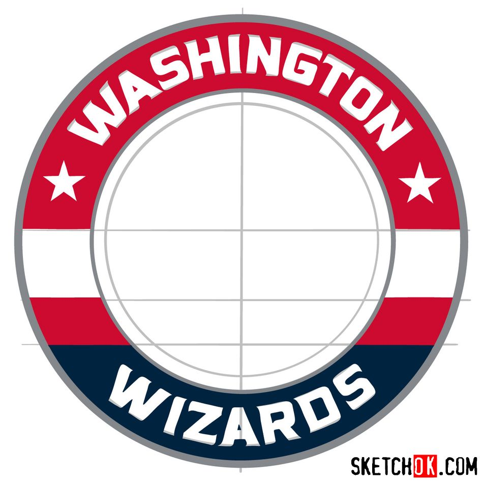 How to draw The Washington Wizards logo - step 11