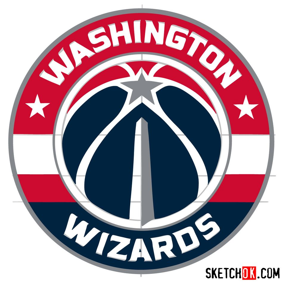 How to draw The Washington Wizards logo - step 15