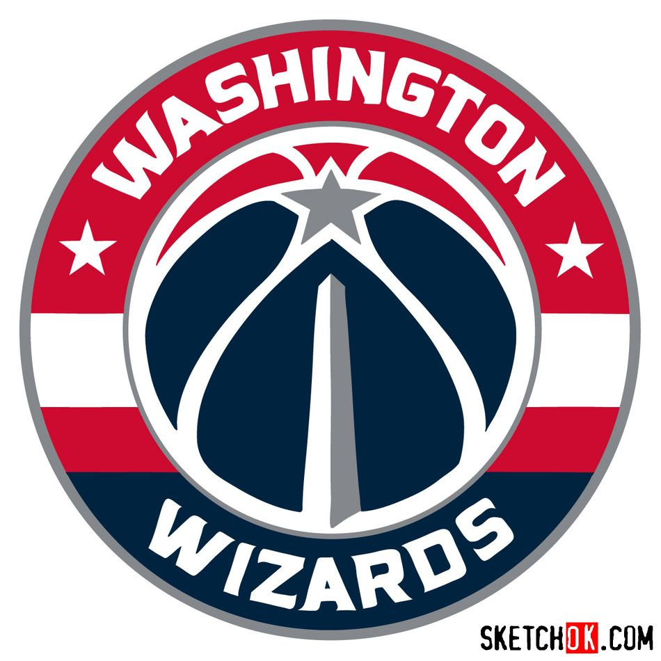 How to draw The Washington Wizards logo