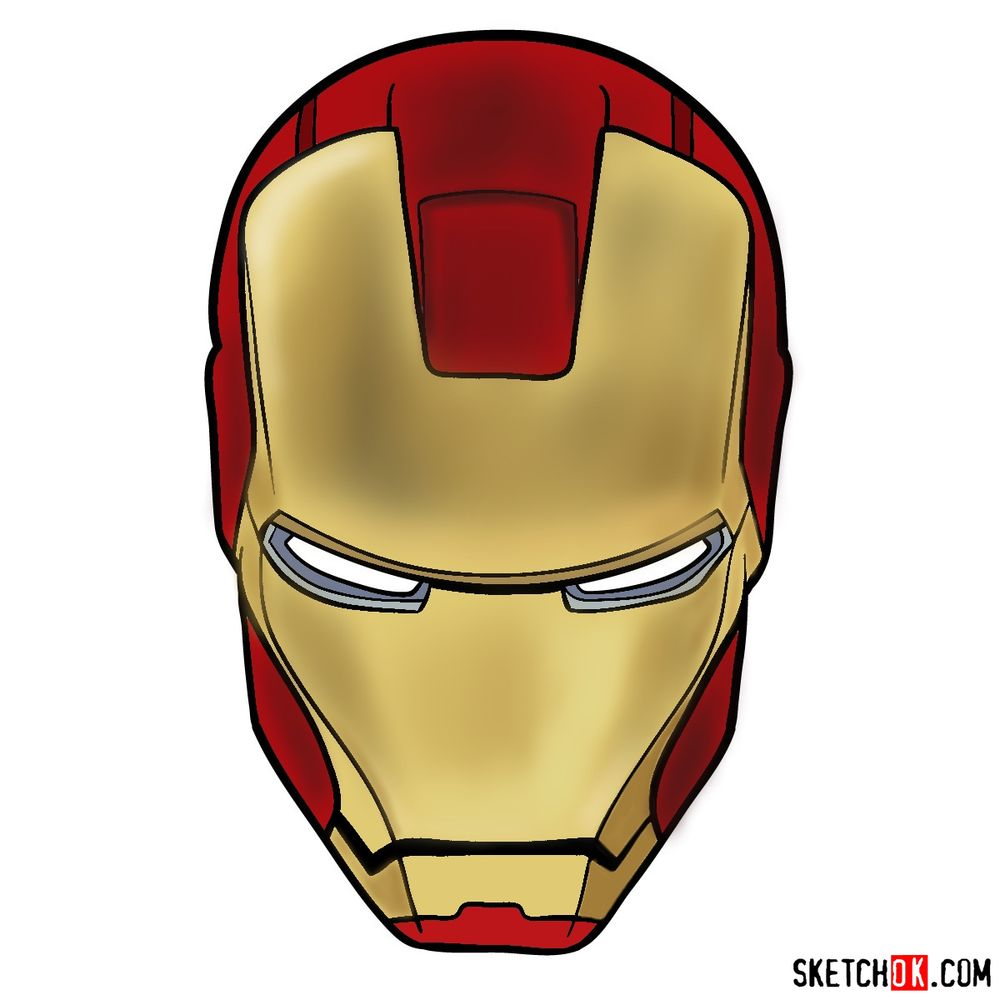 How to draw an Iron Man mask