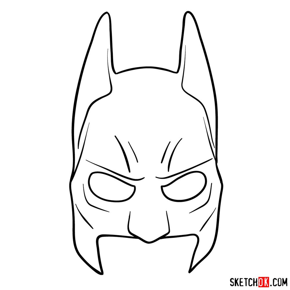 How to draw a Batman mask
