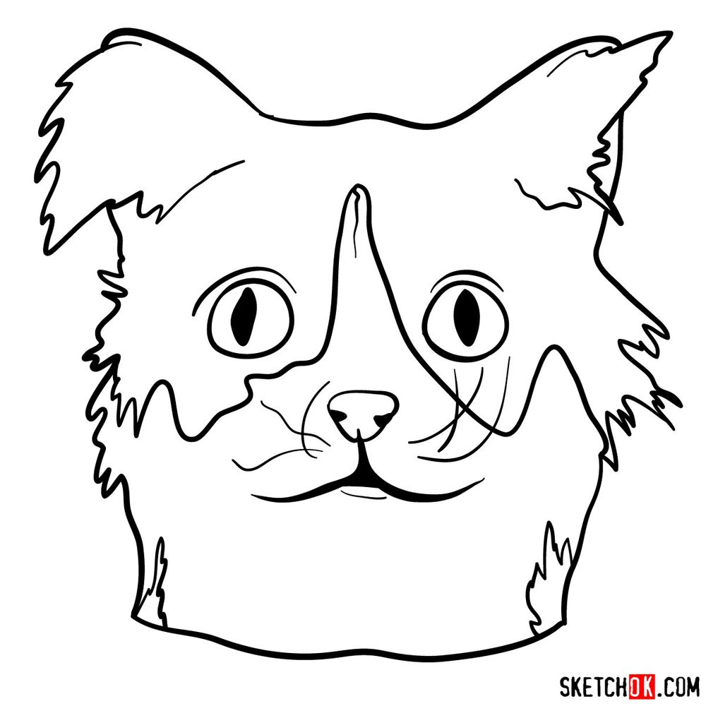 How to draw a silly cat mask