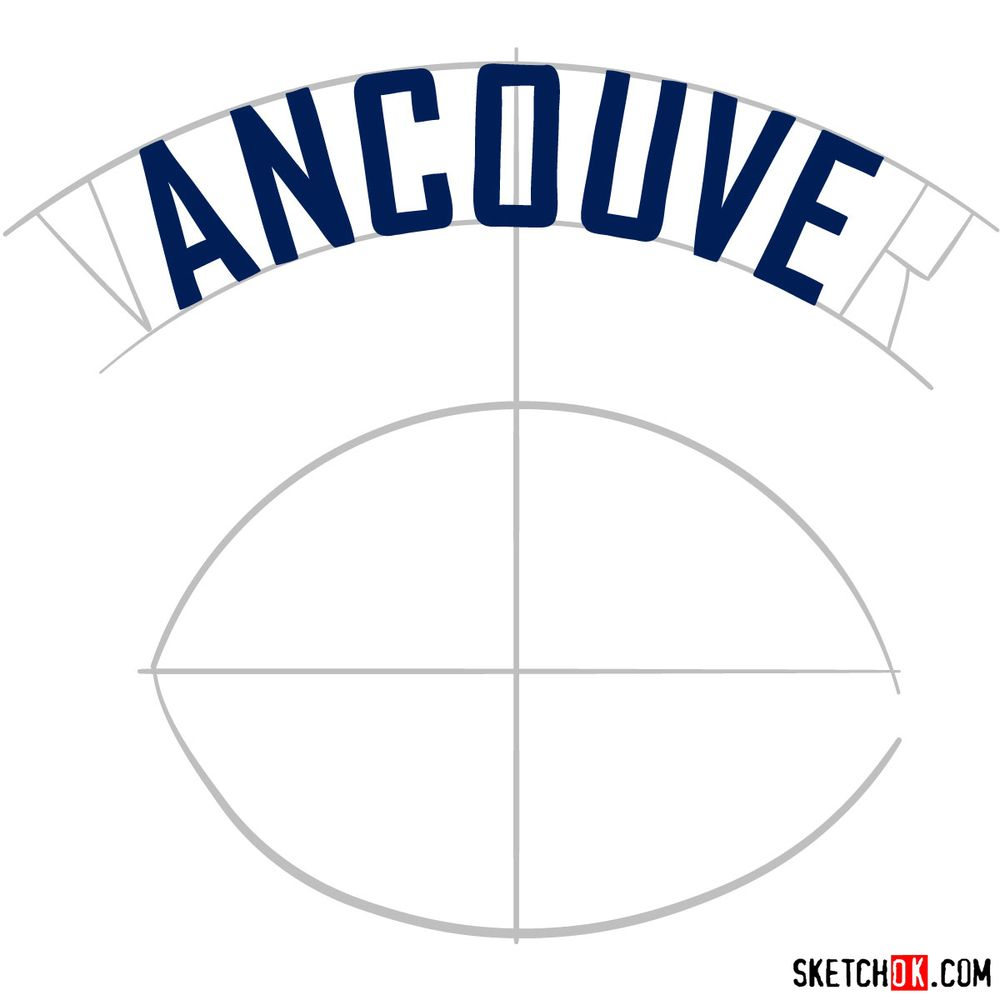 How to draw The Vancouver Canucks logo - step 05